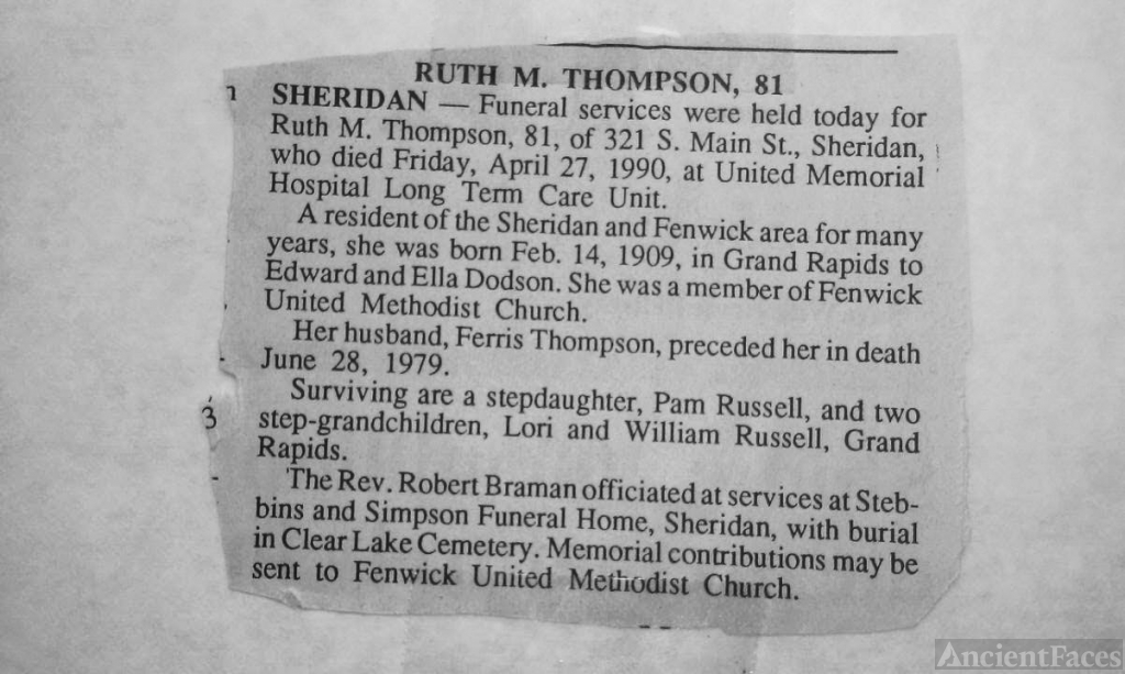 Ruth Marian (Dodson) (Dodson)Thompson