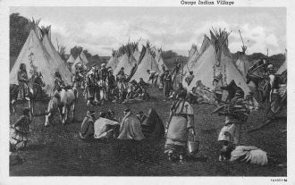 Osage Indian village