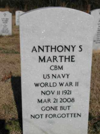 Anthony Severen Marthe Gravesite