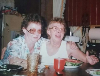Mom and Aunt Nancy.
