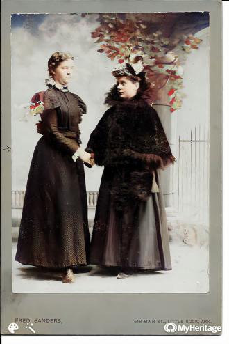 Mathilda Schultz Adams and Bertha Loock