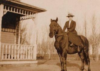 Mary Hauser Levang, North Dakota, c.1900