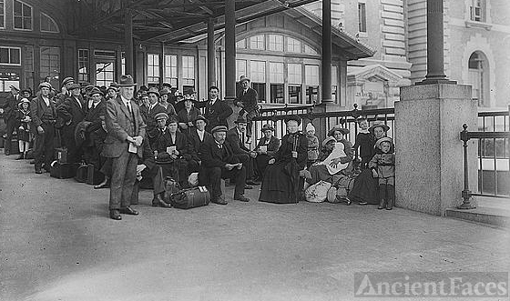 Awaiting examination, Ellis Island