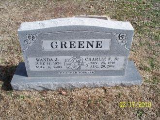 Charlie & Wanda Greene gravesite