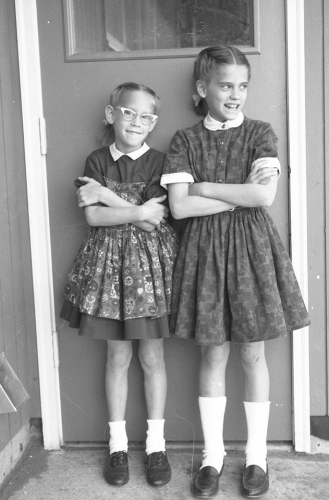 Unknown Sisters, school clothes