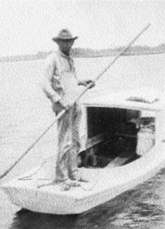 Will Pridgen enjoying his boat