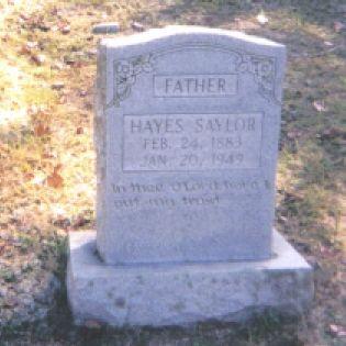 Hayes Saylor b. 1883