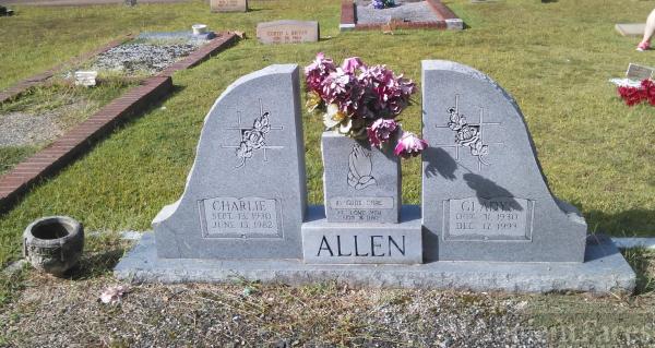 Gladys and Charlie Allen gravesite