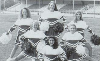 Freshman Cheerleaders at Martins Ferry High School Ohio 1995