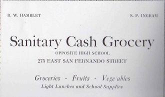 R.W. Hamblet & S.P. Ingram San Jose CA  1926