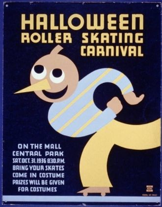 Halloween roller skating carnival On the mall, Central...