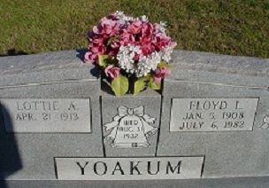 YOAKUM: Floyd Yoakum Gravesite, Paoli, OK