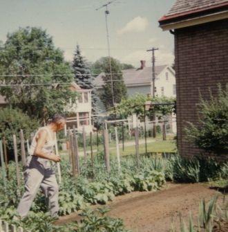 Grandpa Working in His Garden