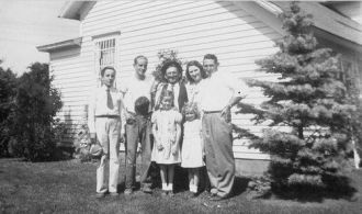 Walter Galgoczi and family members.