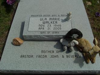 Ula Marie (Utt) Walker Gravesite