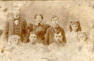 Price & Martha (Stephenson) Byers Family, 1898