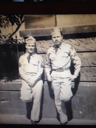 Abuelo (L) with a fellow Army man