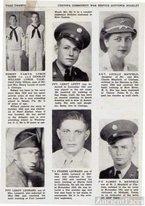 ted stafford's Army Book Kansas - L & M surnames