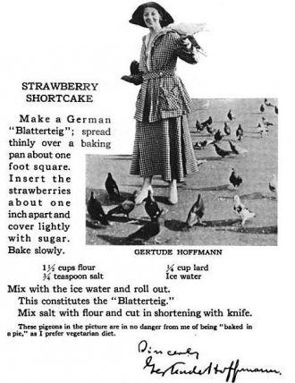 Gertrude Hoffman recipe