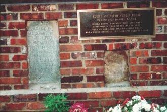 Squire's & Sarah's monument.