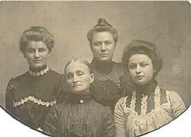 Minnie K. Willms and Three Daughters