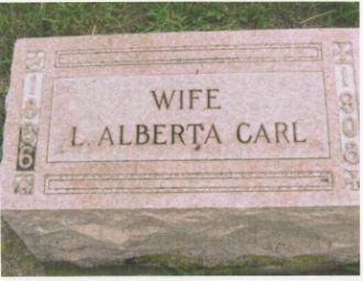 The Tombstone of Loris Alberta (Dougherty) Carl (1866-1930)