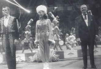 Ingeborg Rhodin with Charley and Adolf