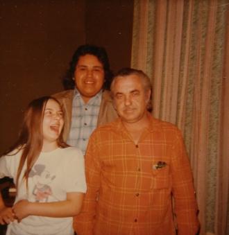 Wanda and Ernie Stawnychka on the far right. Photo taken in Hamilton ON in 1973.