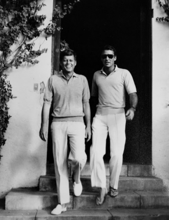 JFK and Peter Lawford