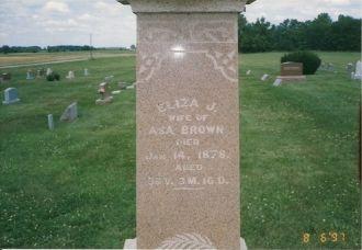 Eliza Josephine McCarty gravestone