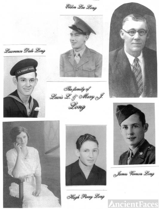 Lewis L & Mary J (Scrivner) Long Family