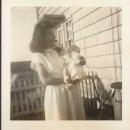 Fern Eckland holding baby Craig Eckland in 1947