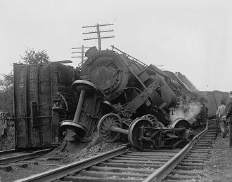 1922 Railroad wreck