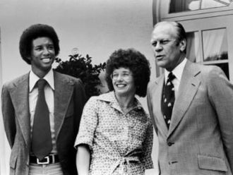 Arthur Ashe and Gerald Ford