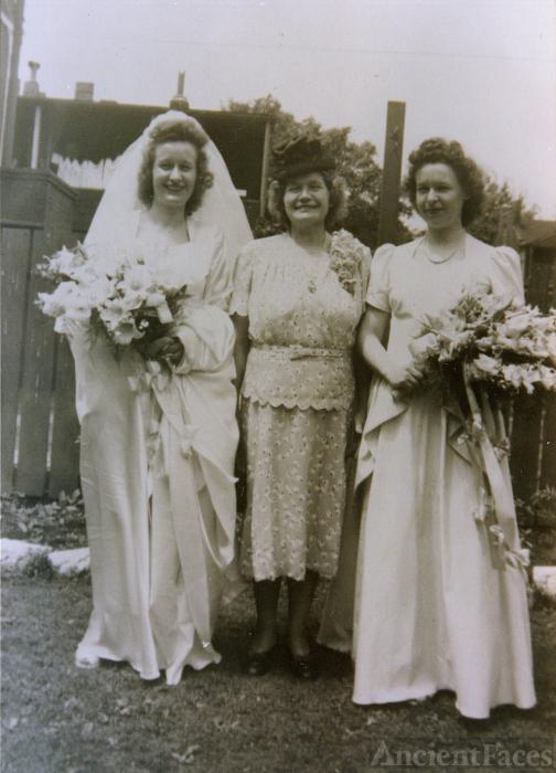 Frances C. Kleaver, Clara (Bambach) Schauer and Anna Bell Spezia