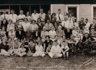 Larkins Family Reunion, Ohio 1936