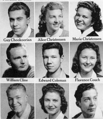 Guy Chookoorian, Fresno Graduation Photos 1942