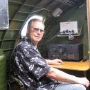 Thomas at flight engineer desk in B17
