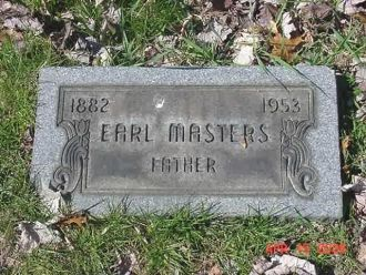 Earl Masters Grave Stone