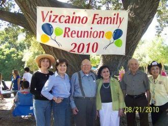 Vizcaino Family Reunion  CA 2010