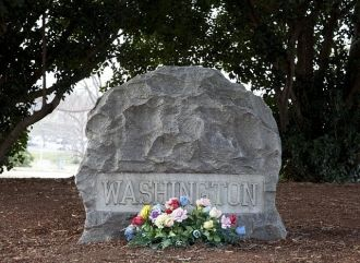 Grave of Booker T. Washington located at Tuskegee...