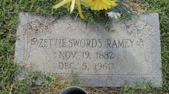 Zettie Swords gravesite