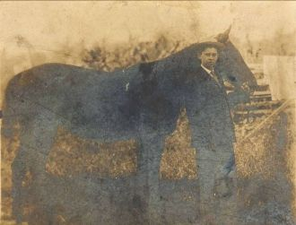 Ernest Johns and horse