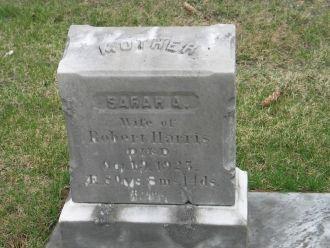 Sarah Ann Packard Harris gravestone