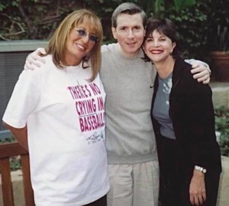 Penny Marshall and Cindy Williams with Writer, Steve Randisi.