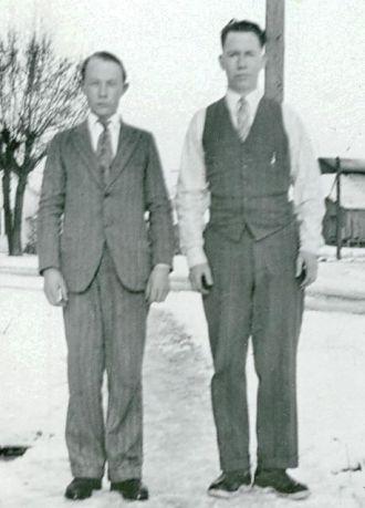 Winter 1932-33, Andy & Alton Daley