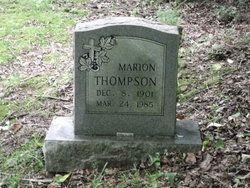 Marion Thompson grave stone