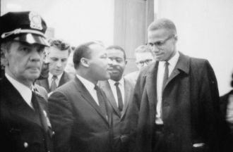 Malcom X  and Martin Luther King Jr