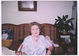 Joyce Josephine Irle Rhoades Morre Kuntschik  Moore  taken 1 week before she Died July 24,2001 in Gonzales texas .