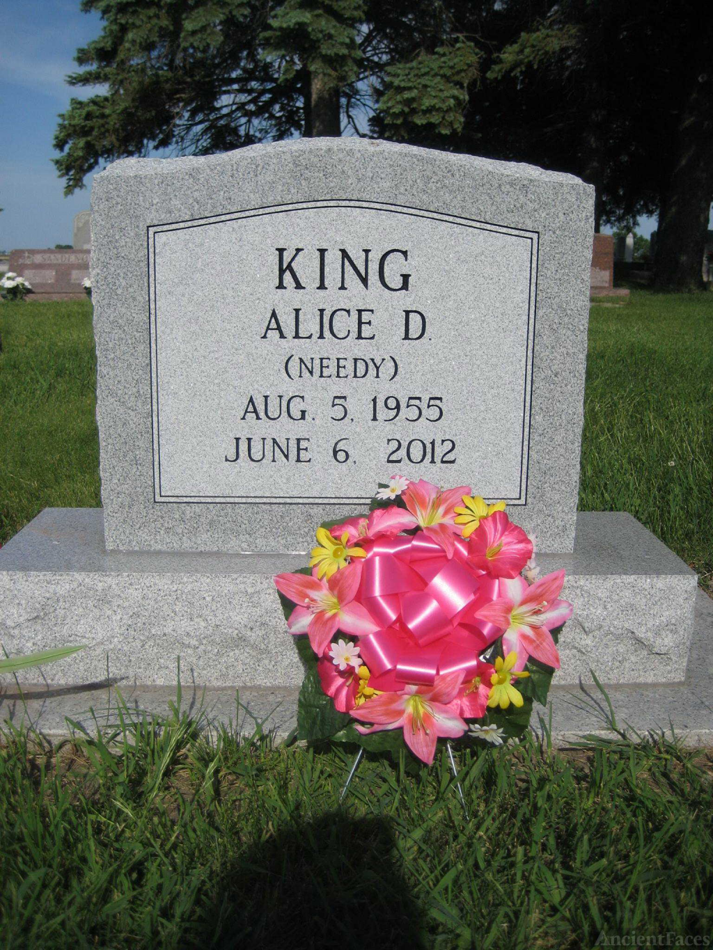 Alice Diane (Needy) King Gravesite